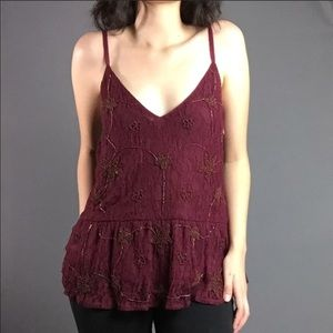 Zara | Embellished Peplum Tank Top